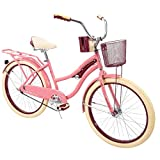 Huffy 24' Nel Lusso Girls' Cruiser Bike, Pink Blush Powder