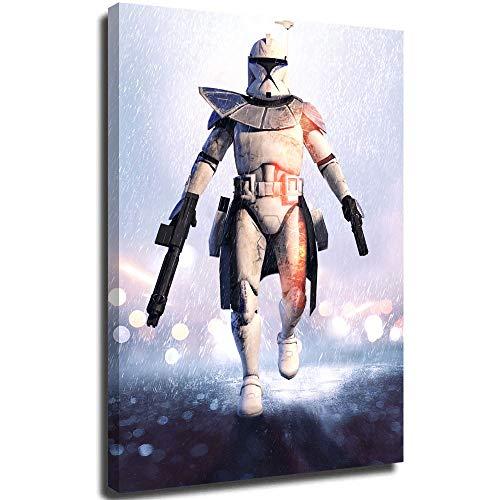 Star Wars Movies Modern Nature Artwork Battlefield Clone Trooper Soldier Star Wars Star Wars Battlefront - Póster de arte abstracto 3D (30,5 x 45,7 cm)