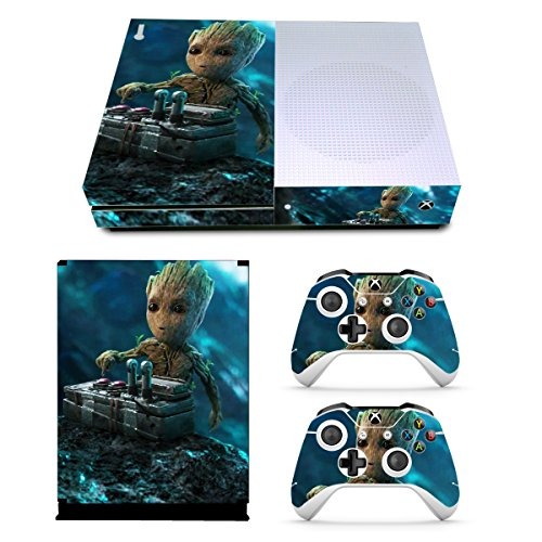 EBTY-Dreams Inc. - Microsoft Xbox One Slim - Marvel Guardians Of The Galaxy Mini Groot Vinyl Skin Sticker Decal Protector (Guardians Of The Galaxy Game Xbox 360)