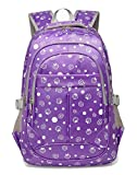 Dots&Strawberry Print Girls Backpack For Kids Elementary School Bags Bookbags/ Birthday Gifts...
