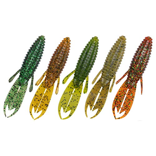 RUNCL Anchor Box - Creature Baits Candy 4.2in, Soft Fishing Lures (Pack of 20)