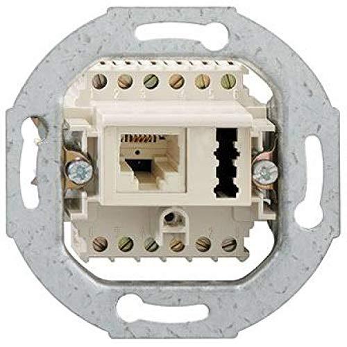 Rutenbeck 13311401–Steckdose 1x IAE/UAE F + Neutral Montage Einbau weiß Polar