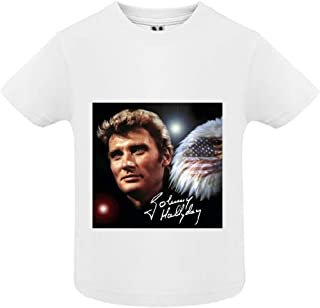 18mois Johnny hallyday 9 Col Rond access-mobile-ile-de-re.fr T-Shirt Manche Courte B/éb/é Gar/çon Blanc