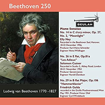 Beethoven 250 Piano Sonatas Nos. 14,26 and 29