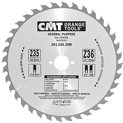CMT Orange Tools 291.235.36M - Sierra circular 235x2.8x30 z 36 atb 15 grados