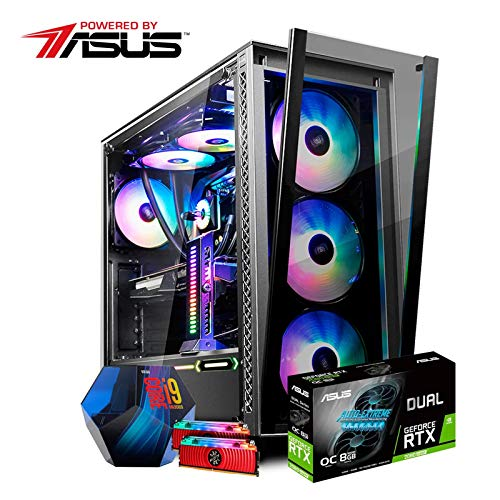 Gamer PC Powered By Asus ROG-X450 Intel I7 8700K / ROG STRIX Z370-E Gaming / GeForce GTX 1070 Ti / 16GB DDR4 / SSD Intel M.2 1.02TB