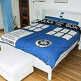 Doctor Who 33.2x 25.2x 5.2cm Copripiumino Doppio, Blu