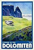 Dolomiten Berg-Poster italienisches Gebirge Poster Berg
