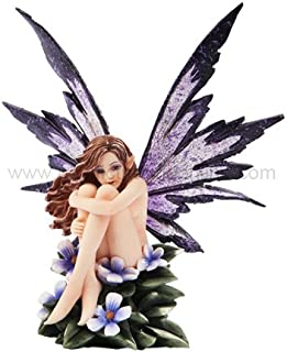 *New* 2013 Amy Brown Fantasy Periwinkle Flower Fairy Statue Enchanted 6