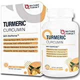 Water-Soluble Turmeric-Curcumin for Highest Potency, with BioPerine for Max-Absorption, Turmeric and Ginger Supplement for Back Pain Relief, Joint Support and Immune Health 90 Tablets