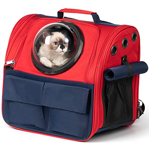 Cat Backpack Carrier Soft-Sided Pet Travel Bag for...