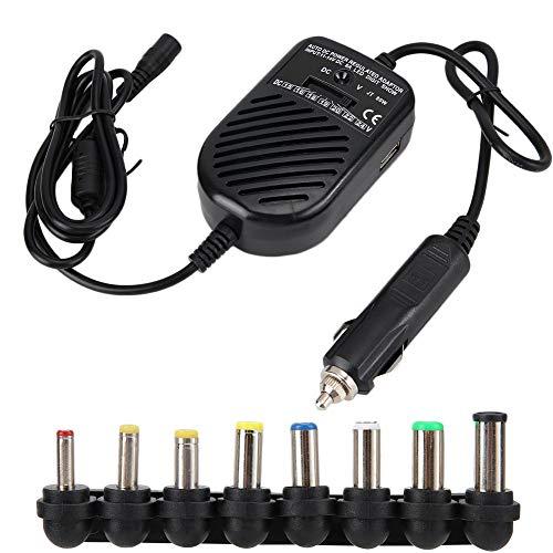 Adaptador de fuente de alimentación universal, cargador de coche multifuncional de 80 vatios DC Adaptador de corriente para cargador de portátil, adaptador de fuente de alimentación ajustable USB