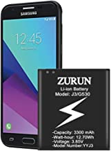 Galaxy J3 Battery ZURUN 3300mAh Battery Replacement for Samsung Galaxy J3 (2016) J320V J320A J320F J320P EB-BG530 EB-BG530BBU Galaxy Grand Prime Battery [2 Year Warranty]