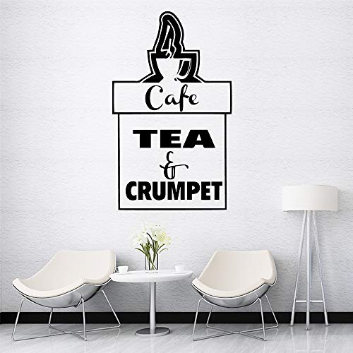 Kaffee Tee Wandaufkleber Selbstklebendes Vinyl Wasserdicht Wandkunst Aufkleber Kinderzimmer Kinderzimmer Wanddekor Aufkleber Wandbild 30X49Cm