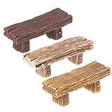 LAOLEE 1 pieza retro silla miniaturas bonsái adornos bricolaje micro paisaje decoración del hogar (color al azar) musgo micro paisaje decoración doble taburete