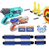 Duckura Toys Gun for Boys, Shooting Game-Bowling Target Practice, Accessories for Nerf Party Supplies, Easter Toy Birthday Gifts for Kids Age 5 6 7 8 and Up