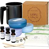 Nature's Blossom Candle Making Supplies Kit - Easily Create 3 Large Scented Candles. Beginners DIY Starter Set with Soy Wax, Fragrance Scents, Wax Melting Pot, Wicks, Tin Jars, Candlemakers Guide