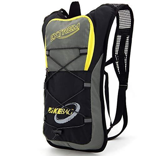 ekavale - Kleiner Fahrradrucksack für Wandern, Klettern, Fahrradfahren, Laufsport, Motorradtouren – Rucksack Ultraleicht und wasserabweised