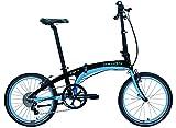 Dahon Vigor P9Bicicleta Plegable para Adulto, Arena Azul, Talla 20