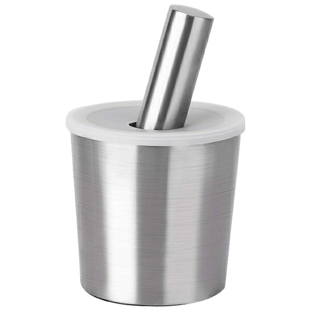 落とし穴買い手光のステンレススチール製乳鉢と乳棒セットふた研削ボウルボウルハーブスパイスマッシャースリップ耐性底