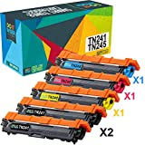 Do it Wiser Cartouches de Toner TN-241BK TN-245 C,M,Y Compatibles pour Brother MFC...