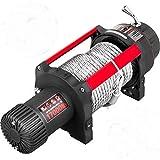 VEVOR Cabrestante Eléctrico, 17000 lb/7711 kg 4,3 kW 12 V Cabrestante para Coche con Control Remoto Inalámbrico, 26 m Cuerda de Acero Diámetro 12 mm 6 hp Cabrestante Eléctrico para Rescatar Vehículos