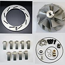 04.5-05 Duramax 6.6 LLY GT3788va TurboCharger Inconel Unison Ring+ Vanes 9PCS+GT3788VA Rebuild Kit+GT3788VA Compressor Wheel 6+6