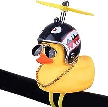 Rubber Duck Shine en piepen koel,Eend speelgoed auto ornament,Gele eend auto dashboard decoraties met propeller helm, voor...