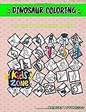Dinosaur Coloring: Activity Coloring Book 30 Coloring Pterosaurus, Spinosaurus, Stygimoloch, Kronosaurus, Protoceratops, Protoceratops, Buitreraptor, Triceratops For Boys Image Quiz Words