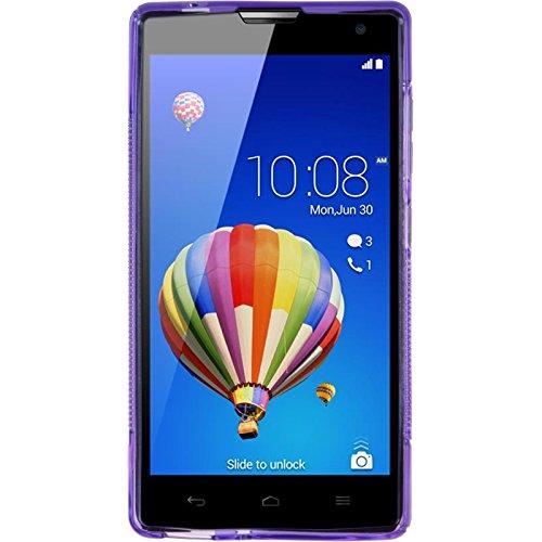 PhoneNatic Case kompatibel mit Huawei Honor 3C - lila Silikon Hülle S-Style + 2 Schutzfolien - 2