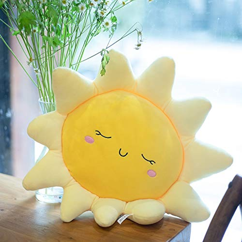weichuang Almohada de peluche para bebé, con forma de nube, de dibujos animados, color amarillo, rosa, azul, 6 tamaños (color: 60 cm sol)
