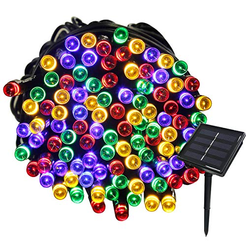Tuokay, Solar Garden Lights, Outdoor Fairy Lights, Waterproof 72ft 22m 200 LED 8 Twinkling Modes, Decorative Lighting String Lights for Home, Gazebo, Patio, Lawn, Wedding Ornament (Multicolor)