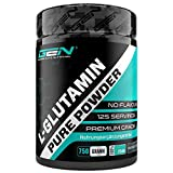 L-Glutamin Pulver - 750 g - Ultra hohe Reinheit ohne Zusätze - Laborgeprüft - 100% micronized L-Glutamine Aminosäure - Unlflavoured Neutral - German Elite Nutrition