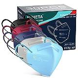 Mascarillas FFP2 Colorido, 30 Unidades, Certificada CE EN149, 5 Capas Protectoras - Cómodas y Resistentes Con Clip Nasal - Envasadas Individualmente en Bolsa