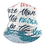 Large Puzzle I Love You More Than All The Narwhals - Funda de esquí para clima frío, calentador de cuello, capucha de forro polar, sombreros de invierno