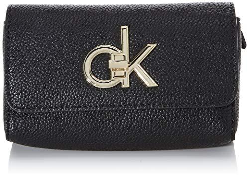 Calvin Klein Damen Re-lock Waistbag Umhängetasche, Schwarz (Black), 3x15x17 cm