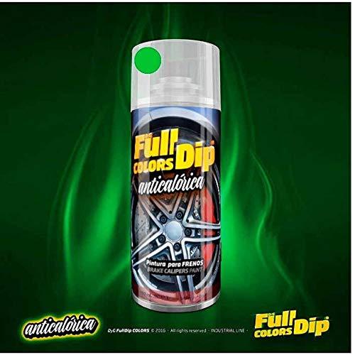 AutoFullCar Spray Pintura para Pinzas DE Freno ANTICALÓRICA ACRÍLICA Permanente FULLCOLORS by Full Dip (Verde Lima)
