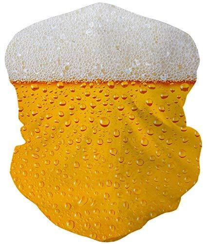 Loveternal Bier Outdoor Funktionstücher Halstuch Multifunktionstuch Nahtloses Kopftuch,Schlauchtuch,Schal,Stirnband, Bikertuch,Unisex,Schnelltrocknend Winddicht Face Scarf für Staub, im Freien, Sport