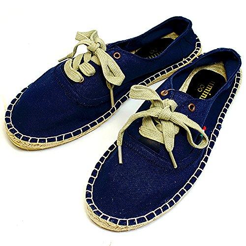 (ルミニーオ)luminio エスパドリーユ サンダル スニーカー 靴 メンズ 柄 スリッポン バブーシュ カジュアル 紳士靴 ネイビー[ブランド]lufo463 (25.0cm, ネイビー)
