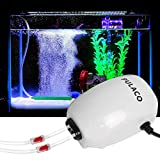 Ultra Quiet Aquarium Air Pump Dual Outlet , Fish Tank Aerator Pump with Accessories, for Up to 100 Gallon Tank