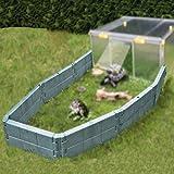 Juwel 20529 - Recinto per tartarughe (grigio basalto) con 14 mattoncini da costruzione, facile da montare, ruota libera per rettili