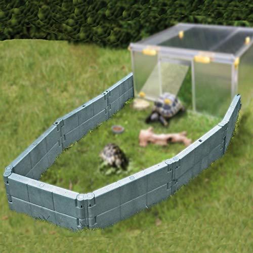 Juwel Auslaufgehege für Schildkröten (basalt-grau, Zubehör für Schildkrötenhaus Paula, inkl. 14 Bausteine, einfache Montage, Freilauf für Reptilien) 20529