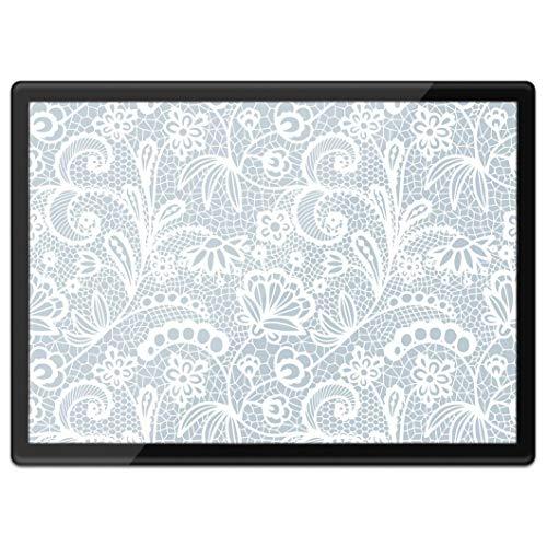 Mantel individual de plástico con diseño floral de destino, tamaño A3, con diseño floral, estilo vintage, ideal para el trabajo o el lugar de trabajo, alfombrilla para ratón, lavable, resistente al agua #15958