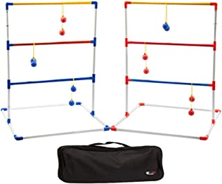 GSE Games & Sports Expert Premium Ladder Golf Ball Toss Outdoor Lawn Game Set with Ladder Ball Bolas & Carrying Case