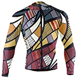 African Enthic Tribal Elements Seamless Texture Men Cycling Jersey Riding Shirts Long Sleeve Road Bike Outfit Icycle Clothes Quick Dry Motocross Jacket Full Zipper(S)