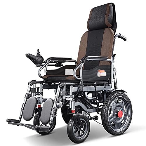 wheelchair Silla de Ruedas eléctrica Scooter reclinable vehículo eléctrico multifunción Silla de Ruedas automática Inteligente Adecuada para Ancianos/discapacitados