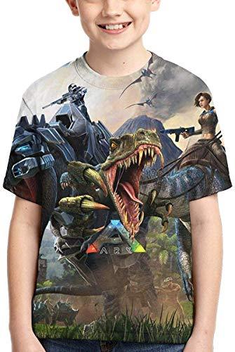 Tshirt T-Shirt für Boys und Girls Youth T-Shirt ARK-Survival-Evolved Game Logo Tee T Shirt Short Sleeve Tshirt Jungen Youth T-Shirt