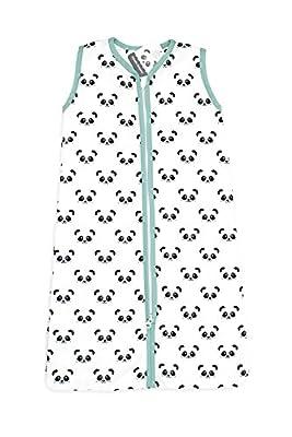Panda Saco de dormir de verano con cremallera, jade