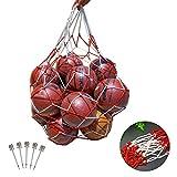 TAZEMAT Fútbol Baloncesto Bolsa de Transporte Bolsa de fútbol Grande Voleibol Rugby Bolsa de Almacenamiento de Malla de Alta Resistencia con Cierre de cordón Juguete de Gimnasio portátil Duradero