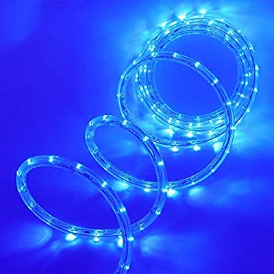 LED Rope String Lights,10m with Remote Control & Timer Waterproof Christmas Xmas Decorative Strip Rope Lights for Outdoor and Indoor (Blue)